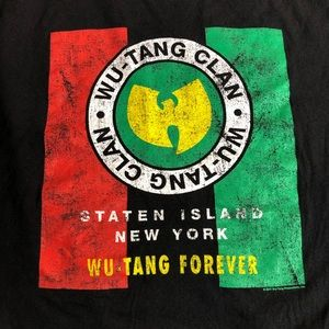 Men's Wu-tang clan black graphic T-shirt, sz LARGE